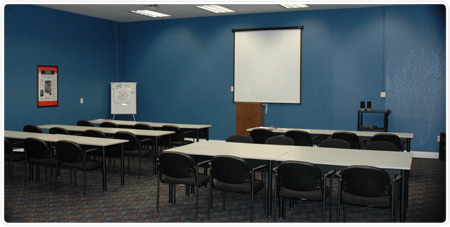 Burgess installers training room - HVAC equipment, professional, clean, certified.
